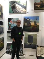 Alex selkowitz at The Other Art Fair, Santa Monica. Photo credit: Genie Davis.