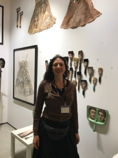 Alexandra Dillon at The Other Art Fair, Santa Monica. Photo credit: Genie Davis.