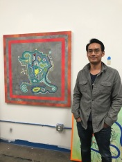 Christopher Jun at Inglewood Open Studios. Photo credit: Genie Davis.