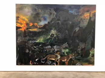 Celeste Dupuy-Spencer, Don't Lose Your Lover, oil on linen, 84 x 108 inches at Nino Mier Gallery. Photo credit: Shana Nys Dambrot.