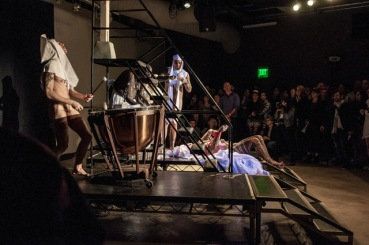 2014 performance of Sebastiane by Ron Athey at the Hammer, photo by Barbara Katz; courtesy of the Hammer Museum.