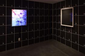 Sadie Barnette: Black Sky, installation view at Charlie James Gallery. Photo courtesy of the gallery.