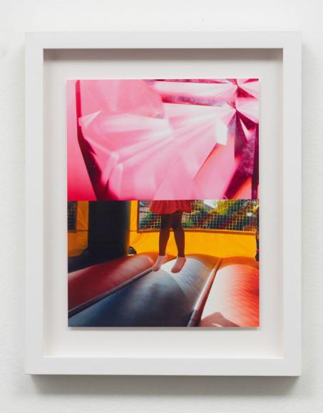 Untitled (Pink Diamond/ Jump) Archival pigment print in Sadie Barnette: Black Sky at Charlie James Gallery. Photo courtesy of the gallery.