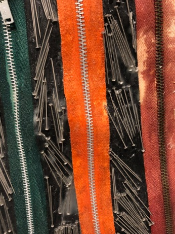 Zippers and Pins. detail. Nancy Youdelman Fashioning a Feminist Vision, 1972-2017. Photo credit: Betty Ann Brown.