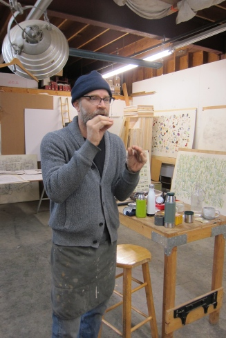 Studio Visit: Kiel Johnson. Photo credit: Gary Brewer.
