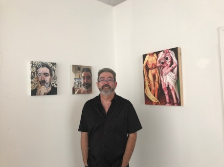 Jesus Max at Inglewood Open Studios. Photo credit: Genie Davis.