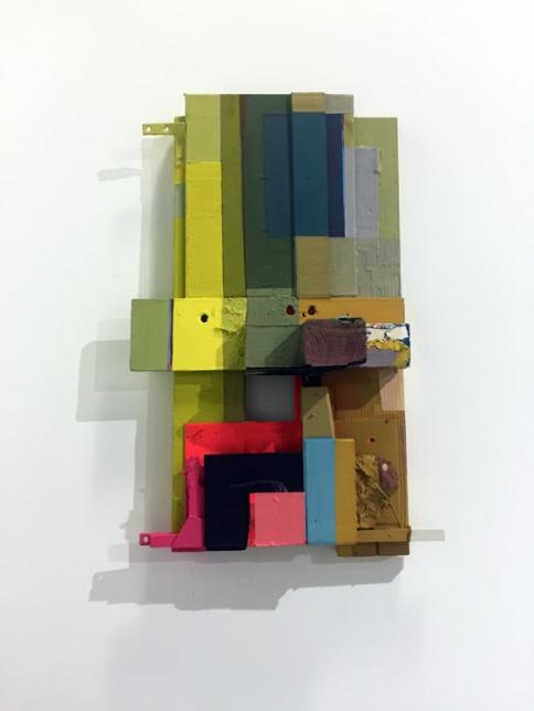 Karri Paul in Polychromatic Mojo / Color as Content at Cerritos College Art Gallery. Photo credit: Lorraine Heitzman.