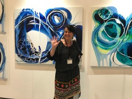 Lara Scolari at The Other Art Fair, Santa Monica. Photo credit: Genie Davis.