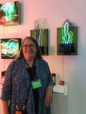 Linda Sue Price at The Other Art Fair, Santa Monica. Photo credit: Genie Davis.
