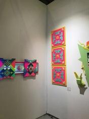 Mgoglktko at The Other Art Fair, Santa Monica. Photo credit: Genie Davis.