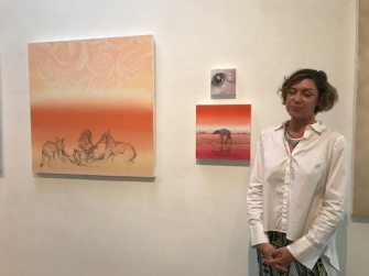 Renee Fox at Inglewood Open Studios. Photo credit: Genie Davis.