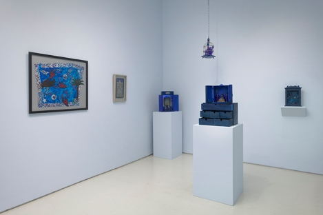 Betye Saar.Something Blue at Roberts Projects. Photo courtesy of the artist and Roberts Projects