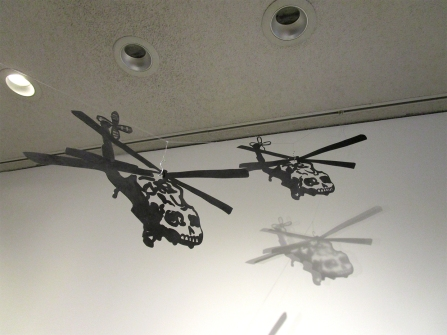 Sandy Rodriguez, Calavera Copter Chandelier. Photo credit: Patrick Quinn.