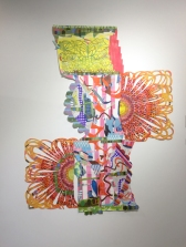 Sarajo Frieden n Polychromatic Mojo / Color as Content at Cerritos College Art Gallery. Photo credit: Lorraine Heitzman.