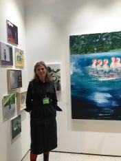 Trine Churchill at The Other Art Fair, Santa Monica. Photo credit: Genie Davis.