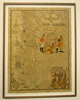 Umar Rashid, Map of the Alta California before the discovery of gold. Photo credit: Patrick Quinn.