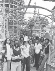 John Outterbridge and the staff of the Watts Towers Arts Center. Los Angeles Times Photographic Archive (Collection 1429). Library Special Collections, Charles E. Young Research Library, UCLA. © The UC Regents.