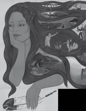 Barbara Carrasco, L.A. History: A Mexican Perspective (detail). © 1981 Barbara Carrasco. Photo: La Plaza de Cultura y Artes.