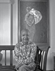 Samella Lewis and The Bagman. Courtesy the artist. Photo: Robert Hale.
