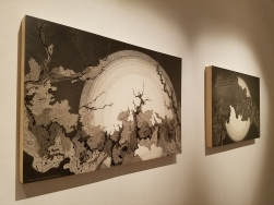 Christine Weir in Walking Upstream in The Loft Gallery at South Bay Contemporary. Photo credit: Kristine Schomaker.