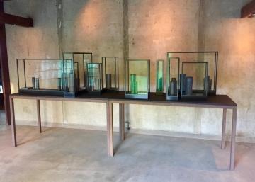 Edmund de Waal, installation view, main foyer. Photo credit: Shana Nys Dambrot.