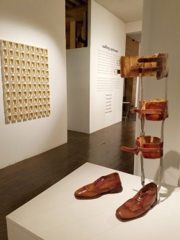 Vincent Tomczyk in Walking Upstream in The Loft Gallery at South Bay Contemporary. Photo credit: Kristine Schomaker.