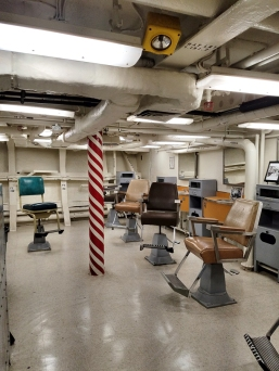 Ben Jackel at A.R.T. on the USS Iowa. Photo credit: Kristine Schomaker.