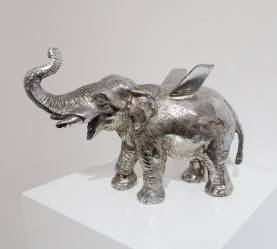 Esterio Segura, Hibrido de Elefante 01 in of Machines and Men at saltfineart. Photo courtesy of the gallery.