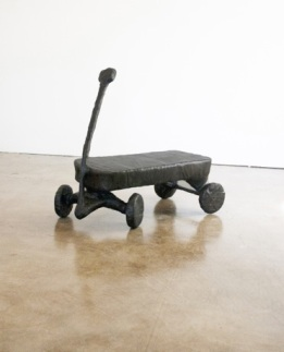 Gerard Basil, Flyer in of Machines and Men at saltfineart. Photo courtesy of the gallery.