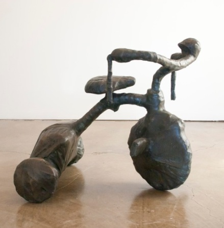 Gerard Basil, Provenance in of Machines and Men at saltfineart. Photo courtesy of the gallery.