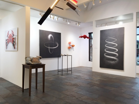 of Machines and Men at saltfineart, installation view. Photo courtesy of the gallery.