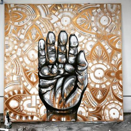 BLEND Erin Yoshi in Art at the Rendon. Photo courtesy Cartwheel Art