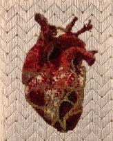 Ellen Schinderman, Kintsugi Heart, Uncommon Thread, BG Gallery; Image courtesy of the gallery