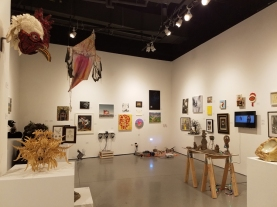 Free Range Group Show, Blinky the Friendly Hen, CSUN Art Gallery; Photo Credit: Kristine Schomaker