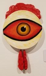 Jayme Odgers, Blinky the Friendly Hen, CSUN Art Gallery; Photo Credit: Kristine Schomaker