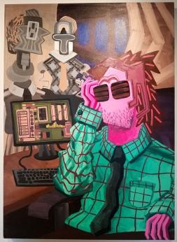 Joel Woodard, Kitsch-In-Sync curated by Bradford J. Salamon, Coastline Community College Art Gallery; Photo credit Kristine Schomaker