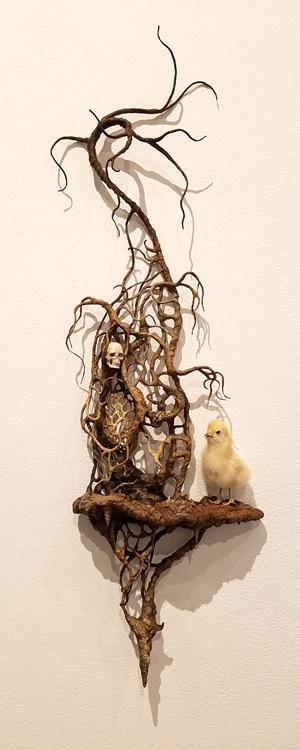 Laurie Hassold, Blinky the Friendly Hen, CSUN Art Gallery; Photo Credit: Kristine Schomaker