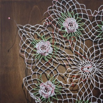 Lindsay Arnold, Caught, Uncommon Thread, BG Gallery; Image courtesy of the gallery