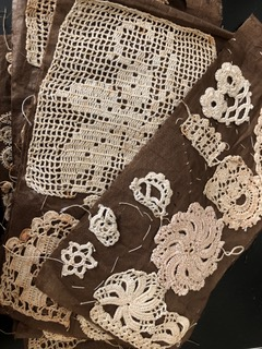 Gwen Samuels, Photographed lace samples; Image courtesy of the artist
