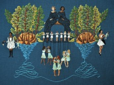 Michelle Kingdom, The Finest Trick, Uncommon Thread, BG Gallery; Image courtesy of the gallery
