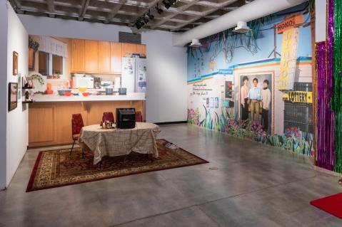 Yoshie Sakai, KOKO's Neighborhood, CSUDH Art Gallery; Photo credit Elon Schoenholz