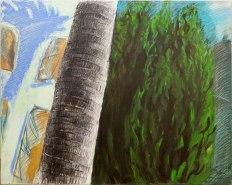 Lena Moross, Palm Tree Cypruss, Monopole Wine Bar; Image courtesy of the artist