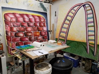 Anthony Ciarlo, California State University Northridge MFA/MA Open Studios. Anthony Ciarlo. Photo credit: Kristine Schomaker.