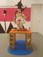 Vanessa German, Carrying_Power Figure for Femmes Who Pack, 2019, $lang, Gavlak Los Angeles; Photo credit Jenny Begun