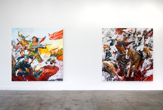 Conrad Ruiz, Black Red and Deadly, Ochi Projects; Photo courtesy of the gallery
