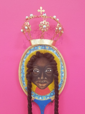 Vanessa German, your anger is a crown glorious, 2019, $lang, Gavlak Los Angeles; Photo credit Jenny Begun