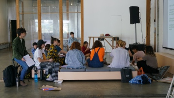 TWAH(=These Worlds Are Here) workshop image. Photo courtesy of Ana Teo Ala-Ruona and Gas