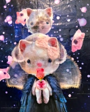 Chris Berens, Goodnight Moon, Hello Kitty Show, Corey Helford Gallery; Photo credit Genie Davis
