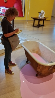 Sarah Lucas, Au Naturel, Hammer Museum; Photo credit Kristine Schomaker
