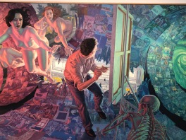 F. Scott Hess, Narrative Painting in Los Angeles, Craig Krull Gallery; Photo credit Betty Brown